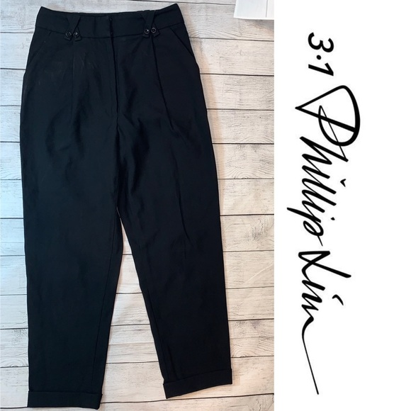 3.1 Phillip Lim Black Wool High Waist Trousers 2
